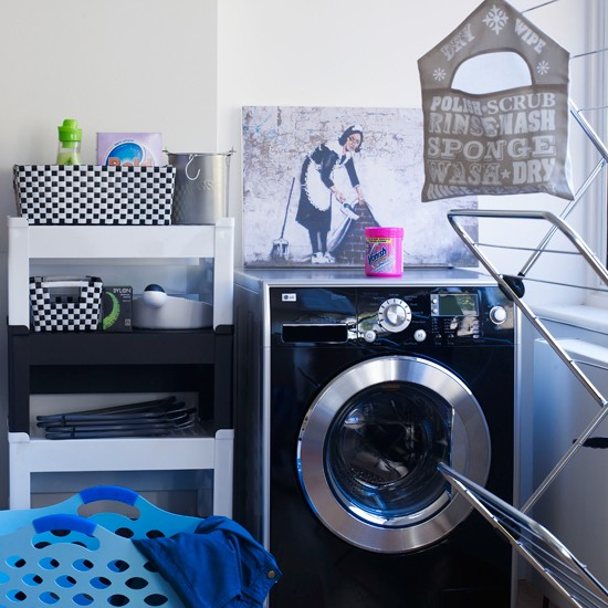 Fun and funky | modern utility room ideas | utility room decorating ideas | laundry room ideas | housetohome