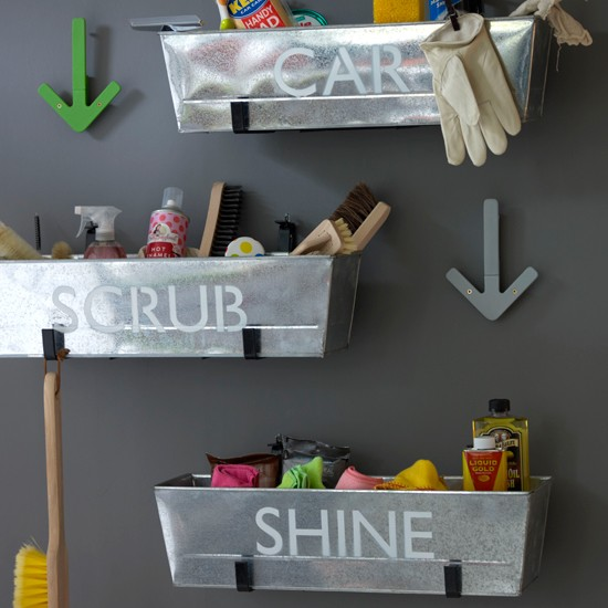 Easy Storage Solutions Modern Utility Room Decorating