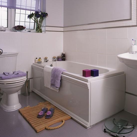 Hot metallics bathroom flooring ideas for Mauve bathroom ideas