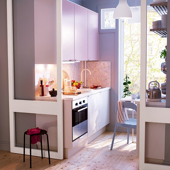 Applad Doors Ikea Kitchen: Rubrik Applad Kitchen In Light Pink From IKEA