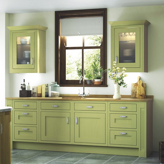 Carisbrooke Green Kitchen From B Q Colourful Kitchen Ranges 10 Best