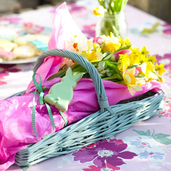 Flower basket | Create an Easter party | Easter ideas | PHOTO GALLERY | Housetohome.co.uk
