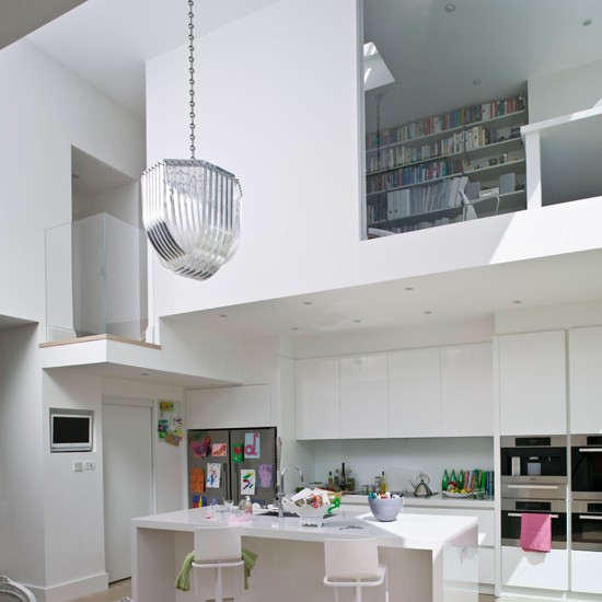 White kitchen with mezzanine | Create the ultimate open-plan kitchen | Open-plan kitchen | PHOTO GALLERY