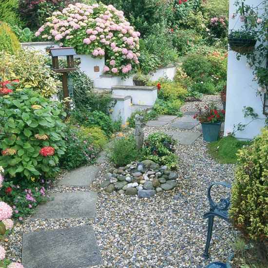 Transform your front garden with these design ideas for Garden design ideas using pebbles