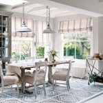 Dining room with stencilled floor | Traditional dining room | Floor stencil | Image | Housetohome