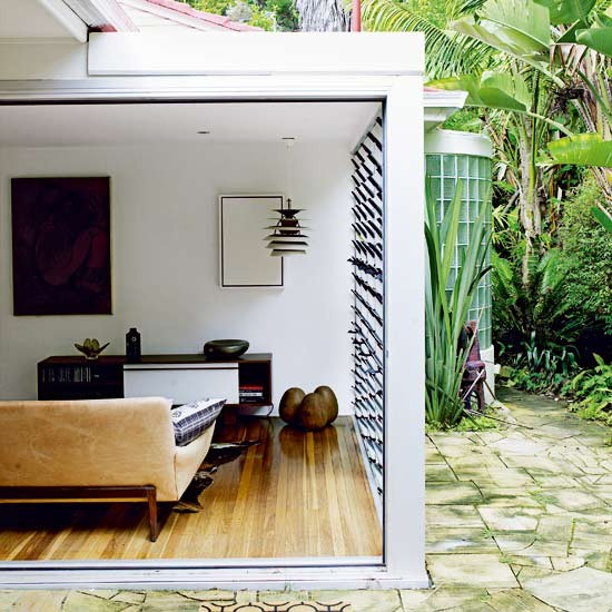 Indoor Outdoor Living Room Take A Tour Around A Tropical Aussie House Hou