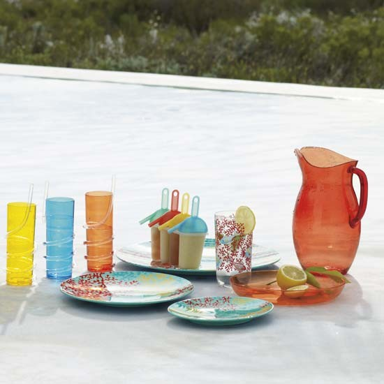 colourful acrylic picnicware summer garden buys our