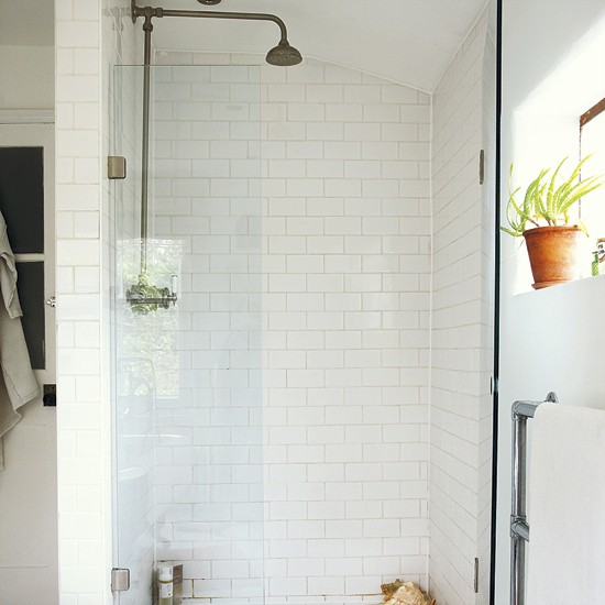 Urban style bathroom shower take a tour around an for Urban bathroom ideas