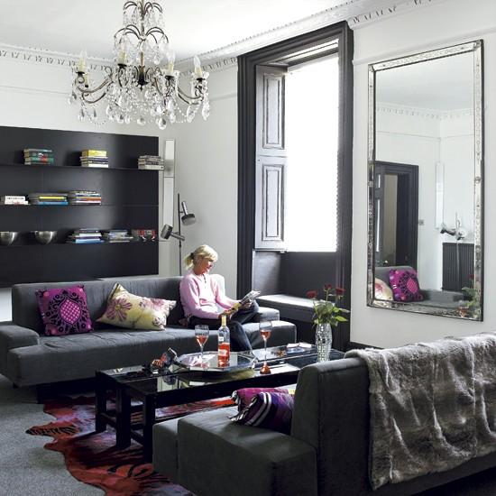 Dramatic living room   Jacobean house   Glamorous decorating ideas   House tours   PHOTO GALLERY   Housetohome