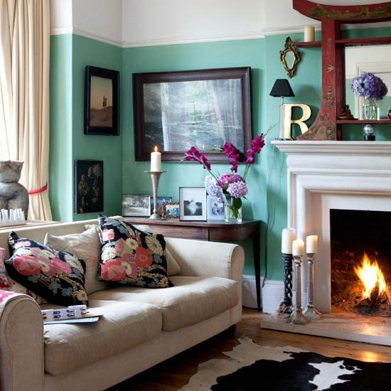 Living room eclectic victorian villa house tour for Edwardian living room ideas