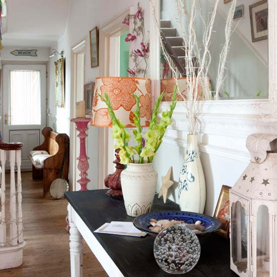 Lovely Contemporary Victorian Hallway: Eclectic Victorian Villa House Tour