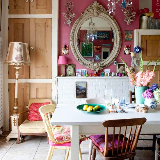 Dining room eclectic victorian villa house tour for Victorian house dining room ideas