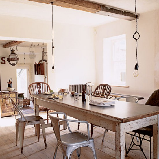 Shabby chic dining room take a tour around a salvage lovers home - Shabby chic dining rooms ...