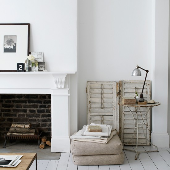 Fireplace  Cool, calm renovation house tour  housetohome.co.uk
