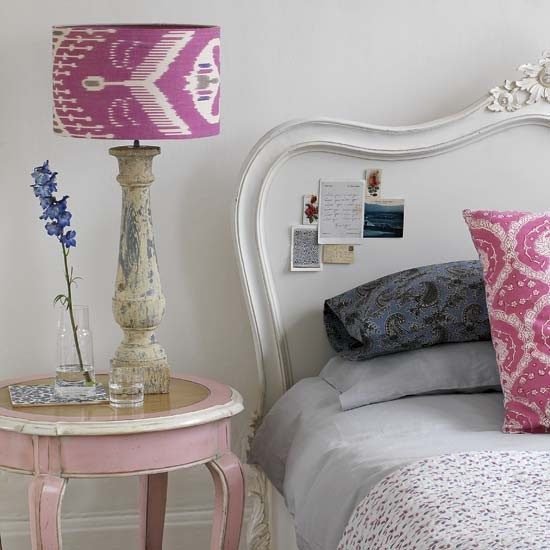 Brighten up your bedroom with this gorgeous lampshade update