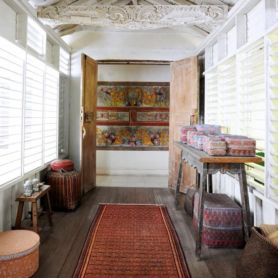 hallway tropical bungalow house tour. Black Bedroom Furniture Sets. Home Design Ideas
