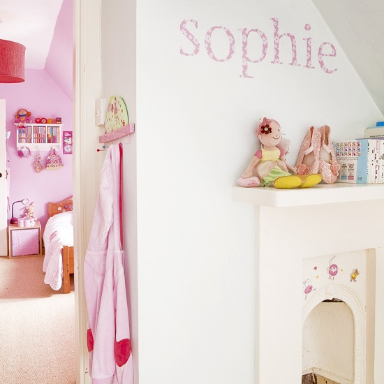 Pink children's bedrooms | Children's bedroom ideas | Wall stickers | Image | Housetohome