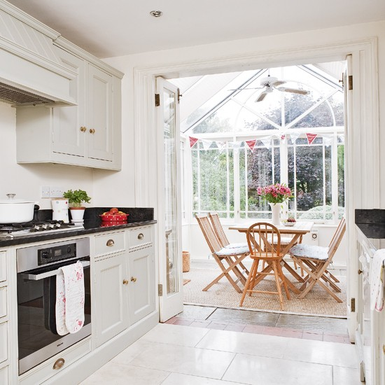 Open Plan Kitchen And Conservatory Open Plan Living