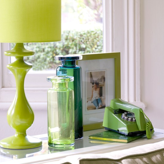 Green living room accents | Living room decor | Paint colours | Image | Housetohome