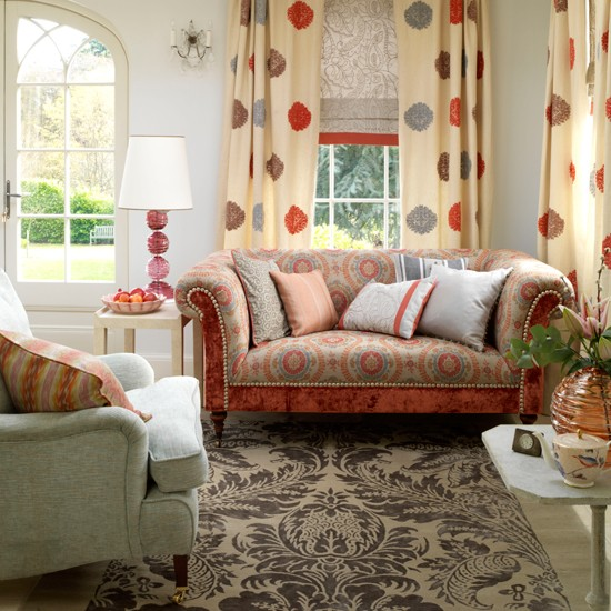 Bohemian living room | Boutique chic living room | Fabric curtain | Image | Housetohome