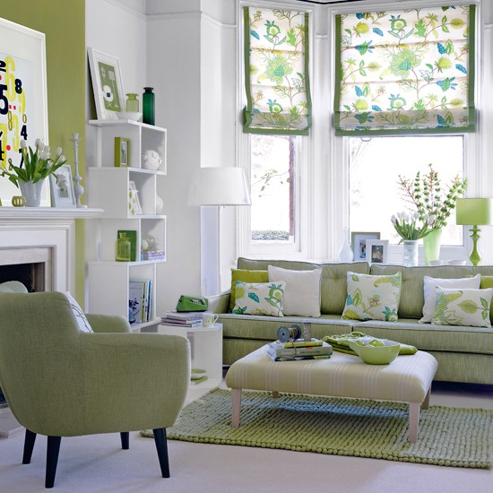 Fresh green living room living room decor housetohome for Modern living room green