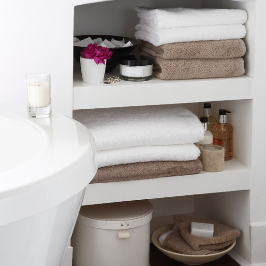 Innovative Open Shelving For Bathroom Storage