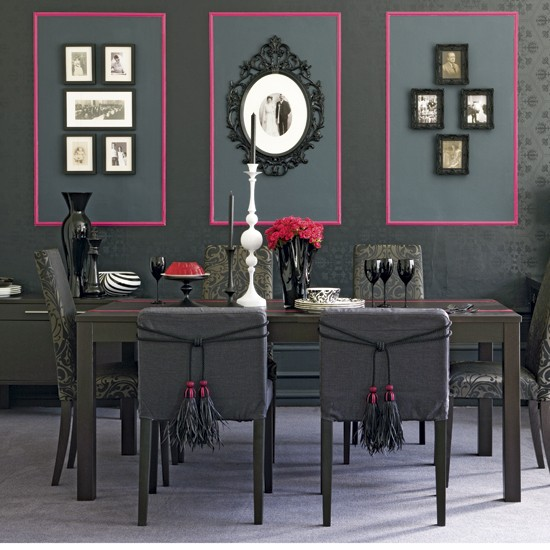 Dramatic dining room | Dining room decorating ideas | Monochrome designs | PHOTO GALLERY | Housetohome