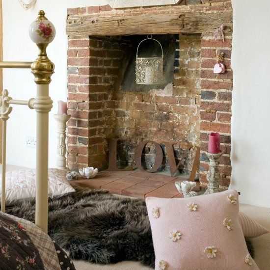 Cosy fireplace area | Bedroom ideas for teenage girls | Decorating ideas for girls rooms | PHOTO GALLERY | Housetohome