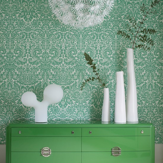 Add interest with a delicate patterned wallpaper | 10 ways to give your living room personality | family living room ideas | living room decorating ideas | living room | housetohome
