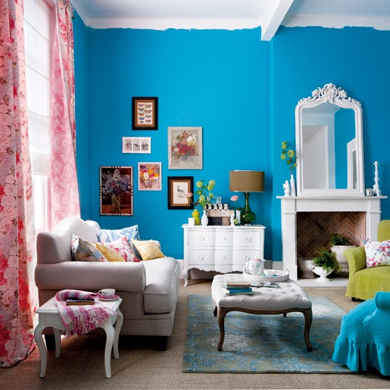 Choose bright, punchy colour | Wow-factor living room designs — 10 ...