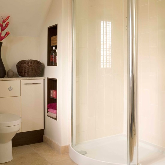 Create storage in the walls storage solutions for small for Bathroom designs for small spaces uk