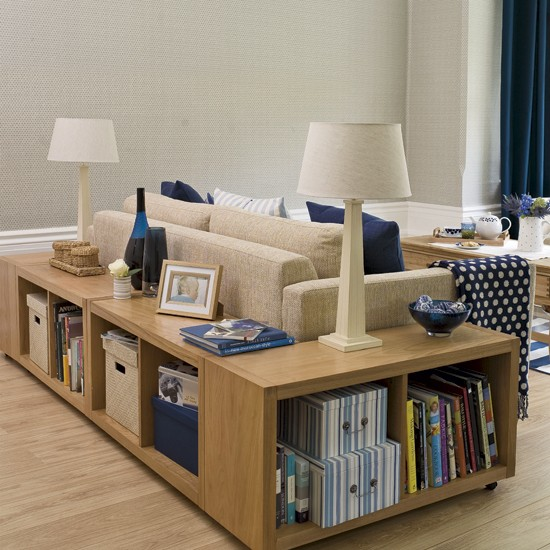 Use storage to divide spaces | Storage solutions for small spaces