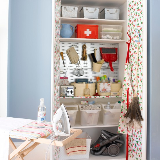 Small laundry room cupboard | Storage solutions for small spaces | Small space designs | PHOTO GALLERY | Housetohome