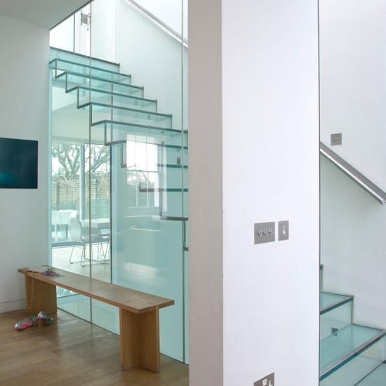 Make an impression with a glass staircase | striking ideas for stairs and hallways | Hallways and stairs ? 10 striking ideas | hallway decorating ideas | housetohome