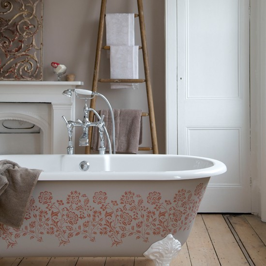 Serene Country Bathroom Bathroom Design Freestanding Bath Image