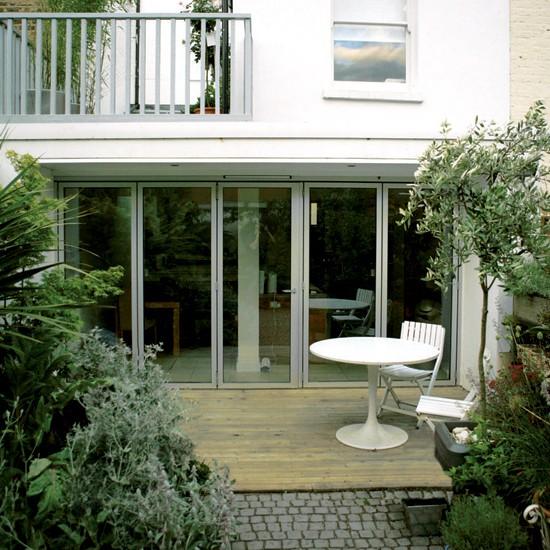 Garden patio chic modern terraced house - Garden ideas terraced house ...