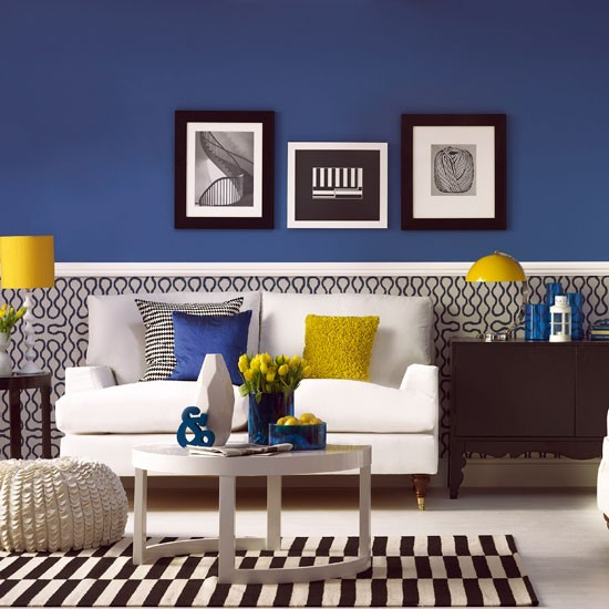 Modern blue living room | Living room decoration | housetohome.