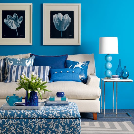 Fresh blue living room  Living room design  housetohome