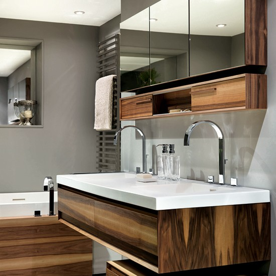 Floating Vanity Unit : Exotic timber bathroom from CP Hart  Nature-inspired bathroom ranges ...