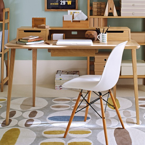 Make your desk the star how to create retro home office - Retro office desk ...