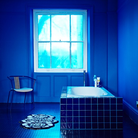Blue calming bathroom | Bathroom design | Bath | Images | Housetohome