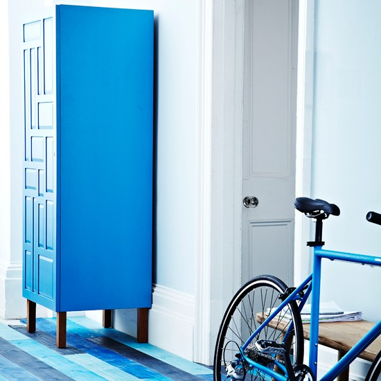 Blue hallway with armoire | Modern hallway design | Flooring | Images | Housetohome