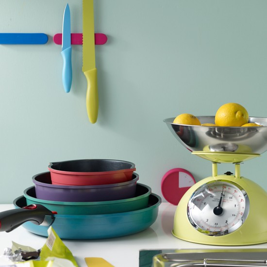 Colourful kitchen accessories | Kitchen design | Pan | Images | Housetohome