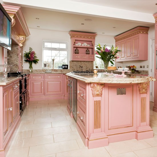 Georgian-style kitchen | Glamorous kitchen | Kitchen design | PHOTO GALLERY | Housetohome.co.uk