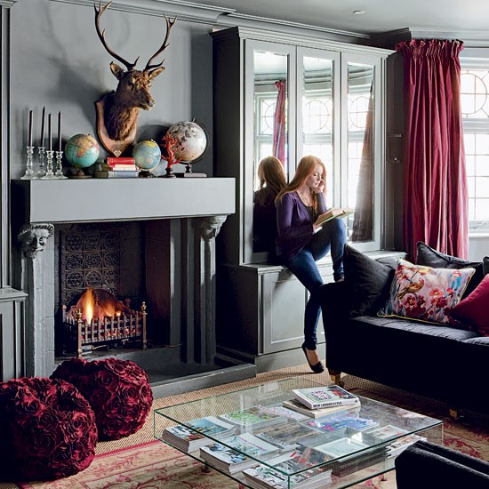 Fireplace take a tour around an arts and crafts home for Arts and crafts living room ideas