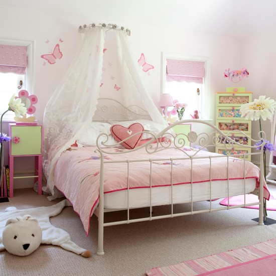 Pink girls bedroom  Extended country lodge  House tour  PHOTO ...