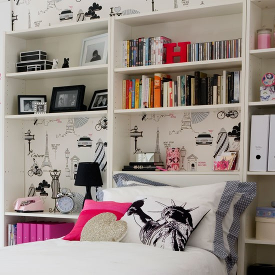 add clever storage transform a teenage girl 39 s bedroom in ForTeen Bedroom Storage