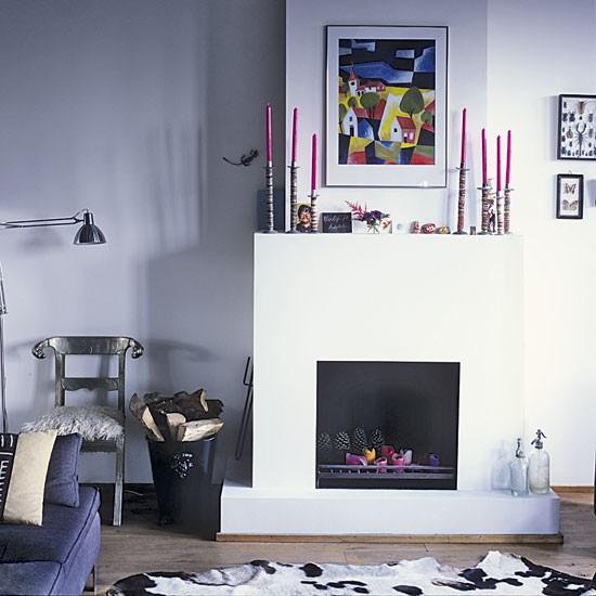 Fireplace Space Saving Amsterdam Apartment Tour