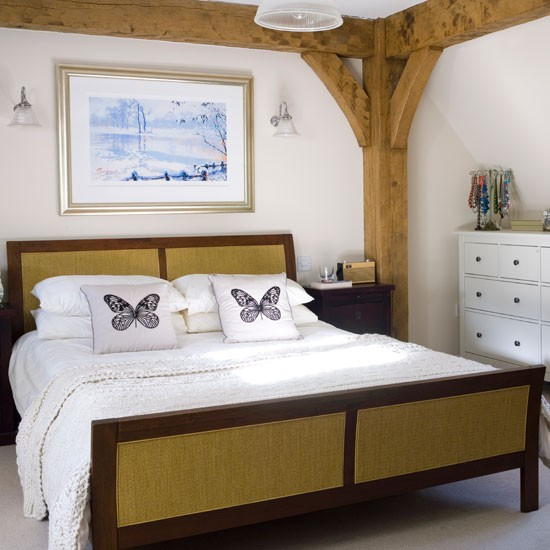 Modern Country Bedroom Bedroom Decorating Ideas Original Beams