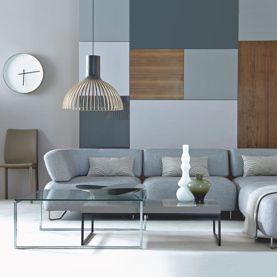Sophisticated grey living room | Striking focal point living room | Modern living room ideas | image| house to home